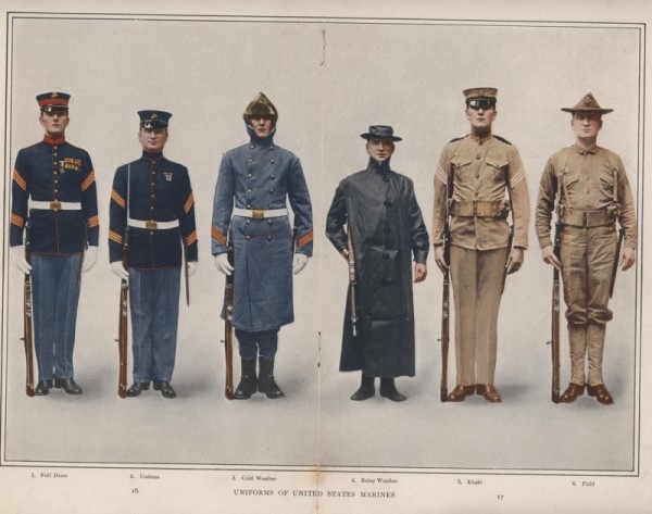 Marine Corps Uniforms, 1912